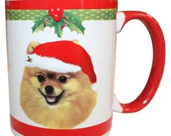 Pomeranian Christmas Mug