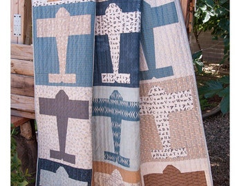 """Aviator Quilt Pattern by Lella Boutique for Moda-#152 - Finished Size 64"""" x 68"""" (Throw)"""