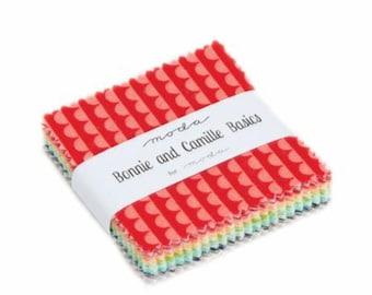 Mini Charm Bundle Bonnie and Camille Basics by Moda - MC-55023- 40 Fabrics