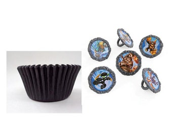 Skylanders Rings with Black Baking Cups