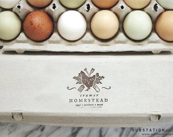 Egg Carton Stamp - Fresh Eggs Stamp - Chicken - Egg Carton Labels - Homegrown - Farm Stamp - Egg Labels - Farm Fresh Eggs - Gardening Stamp
