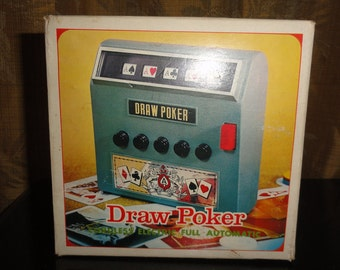 Vintage 1971 Waco Gambling Draw Poker Cordless Electric Full Automatic Handheld Battery Operated Game Machine