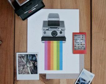 Polaroid SX70 8x10 print