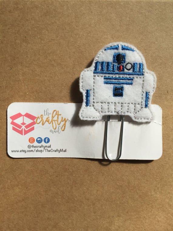 Droid Planner Clip/Bookmark. Star Wars planner clip