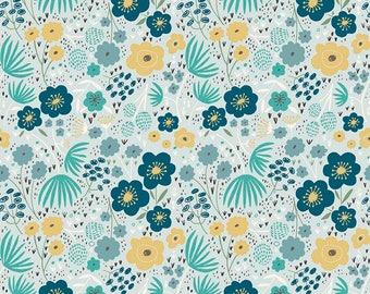 Girl Baby Bedding | Yellow Navy Blue Crib Sheet | Floral Crib Bedding | Yellow Teal Navy Nursery | Standard Crib Sheet Changing Pad Cover