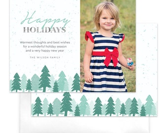 Snowy Morning Christmas Photo Card / Digital Holiday Card / Photo Holiday Card / Custom Christmas Card / Printable Holiday Card