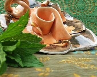 Handmade Pottery candle holder ,  handmade ceramic candle holder , ceramic art , ceramic home decor , pottery home decor