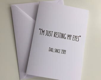 Birthday card for Dad / Funny Birthday card for Dad / Father's Day card / Grandad card / Personalised card / Funny Father's Day card