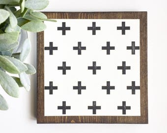 Rustic Swiss Cross sign with multiple crosses  Home decor, Art, Farmhouse, Cottage, Gift