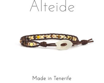 Bracelet Antequera 1 wave - Alteide - made in Tenerife - surf inspired - 925 Silver - man woman - Zebra