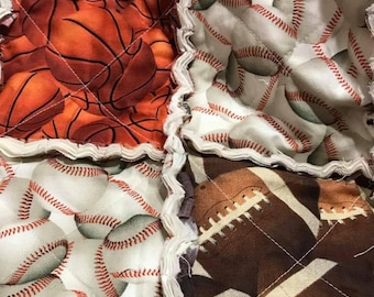 Lets Play Ball Rag Quilt