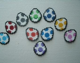Sprite of Mario Yoshi egg Hama Beads • Pixel Art •
