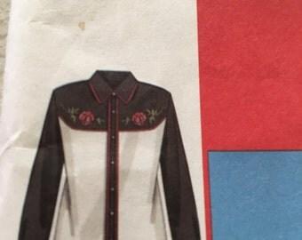 McCall's mens western yoke shirt pattern