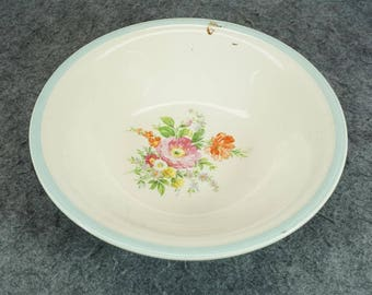 "Edwin M. Knowles Semi-Vitreous 8 3/4"" Serving Bowl C. 1939"