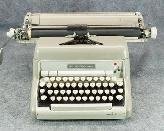 Smith Corona Secretarial Typewriter With Wide Carriage C. 1950S