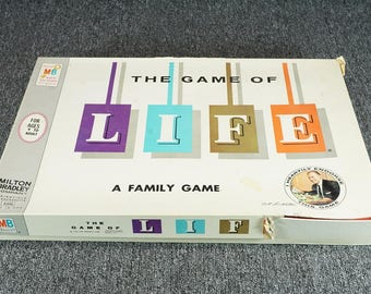 Vintage Milton Bradley The Game Of Life C. 1960