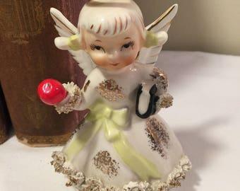 Lefton September angel - vintage birthday angel - vintage Lefton angel - Lefton birthday angel - birthday gift, baby gift - vintage figurine