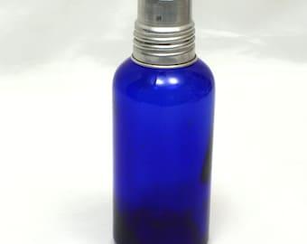 Rare Cobalt Blue Medicine Bottle, Screw On Aluminum Dosage Cap, Collectibles, Medical Bottle, Apothecary Bottle