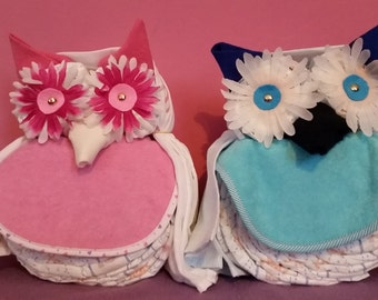 Diaper cake Owl