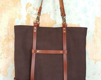 Leather strap tote **Free shipping**