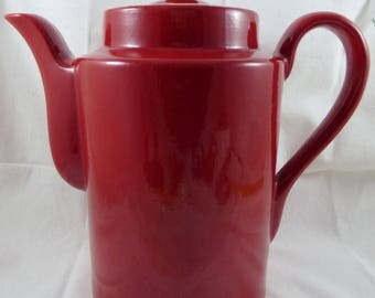Hall China Large Washington Coffee Pot CHERRY Red 10-15 Cups