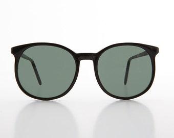 Oversized Round Schoolboy 80s Preppy Hipster Vintage Sunglasses - Margo
