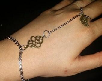 Handmade Slave bracelet - hand chain ring bracelet