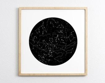 Constellation - Art Print -  Wall Art Nursery Decor Home Decor Office Decor - Northern Hemisphere