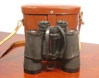 Binoculars Leather Cased Carl Zeiss Jena DDR Jenoptem 10x50W No 6379924