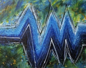 Sound Wave Abstract painting