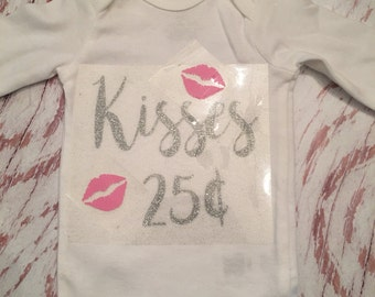 Iron on kisses 25 cents decal / valentine shirt / valentine iron on / valentine decal