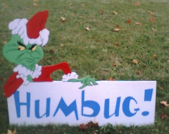 Grinch yard sign humbug 59 99