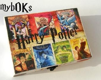 Harry Potter,Harry Potter box,Harry Potter wood box,Harry Potter gift,Harry Potter art,Harry Potter collectibles,Harry Potter book cover box