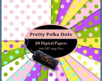 Pretty Polka Dots Digital Papers