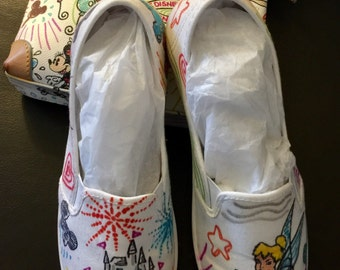 Dooney and Bourke inspired hand painted shoes