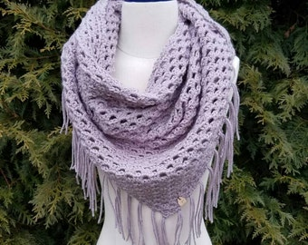 Extra large crochet triangle scarf wrap shawl