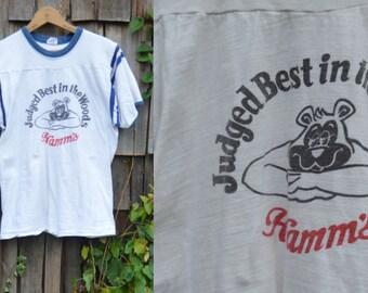 Vintage 80s beer shirt Hamms beer T-shirt Tee Ringer