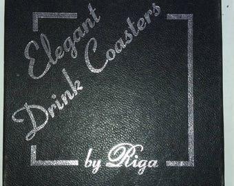 Vintage Elegant Drink Coasters (Set of 6) By Riga (Etched Animals) Australia