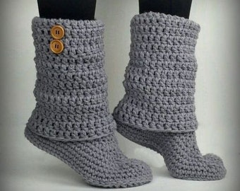 Warm Winter Boots in Grey