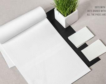 Dot Printable Bullet Journal  Paper • 8.5 X 11 Letter Size • Instant Download • BuJo Planner Pages • 3 Styles: Margins, No Margins, Foldable