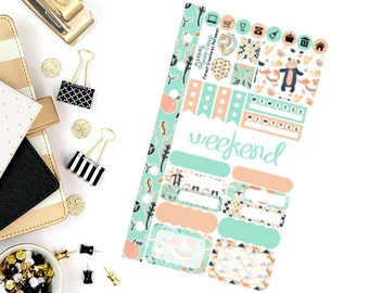 Forest Creatures Personal Weekly Kit! Perfect for your Erin Condren Life Planner, calendar, Paper Plum, Filofax!