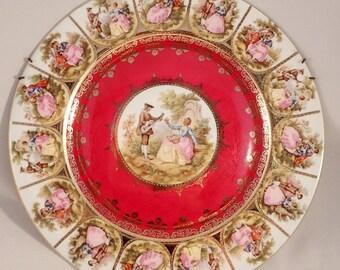 "JKW Josef Kuba Fragonard ""Love Story"" Cabinet/Display Plate – 11"""