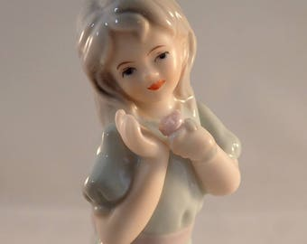 """SBL Regal House Collection Young Girl with Flower Figurine – 5"""" Tall"""