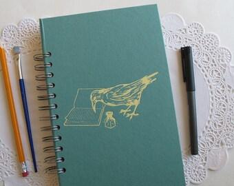 altered book junk journal, crow junk journal, smash book, spiral bound art journal
