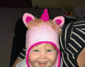 Unicorn hats beanies, choose your colour and size.