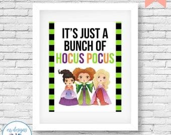 Hocus Pocus Printable, Hocus Pocus Halloween Decor, 8x10 Hocus Pocus Digital Printable