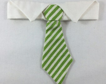 Green Striped Cat Necktie, Cat tie, Cat Necktie collar, St. Patrick's Day Cat tie