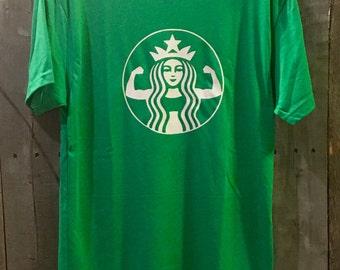 Starbucks Strong t-shirt, custom shirt, gift idea, starbucks shirt