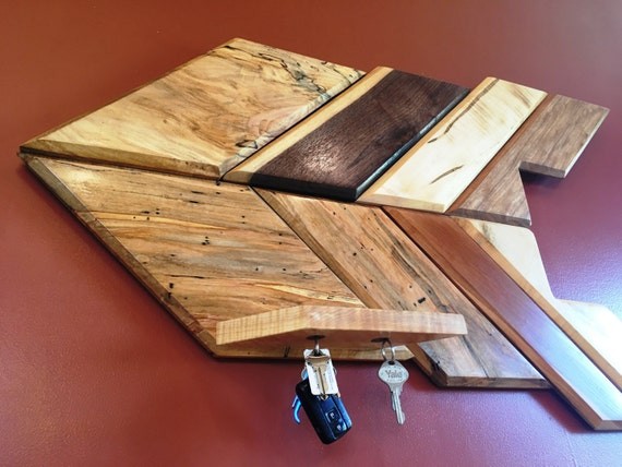 Wall Hanging Wood Arrow With Magnetic Key Holder Shelf Modern