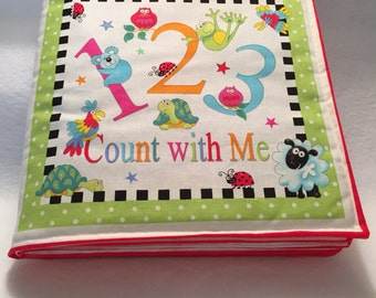 Fabric Book - Count with Me, Quiet Book, Numbers, Counting